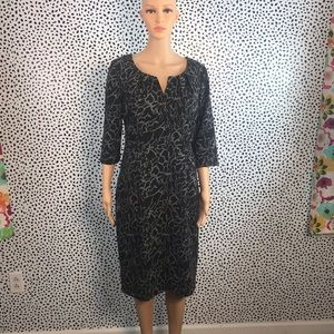 Adrianna Papell black 3/4 sleeve dress size 14